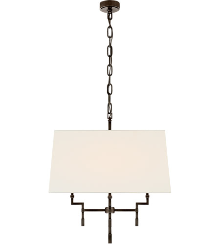 Visual Comfort AH5305GM-L Alexa Hampton Jane 4 Light 24 inch Gun Metal Hanging Shade Ceiling Light, Medium photo
