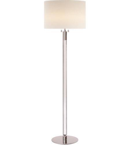 Visual Comfort Arn1005pn Cg L Aerin Riga 60 Inch 60 00 Watt Polished Nickel With Clear Glass Floor Lamp Portable Light