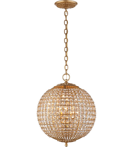 Visual Comfort ARN5100G-CG AERIN Renwick 4 Light 19 inch Gild Sphere Chandelier Ceiling Light, Small photo