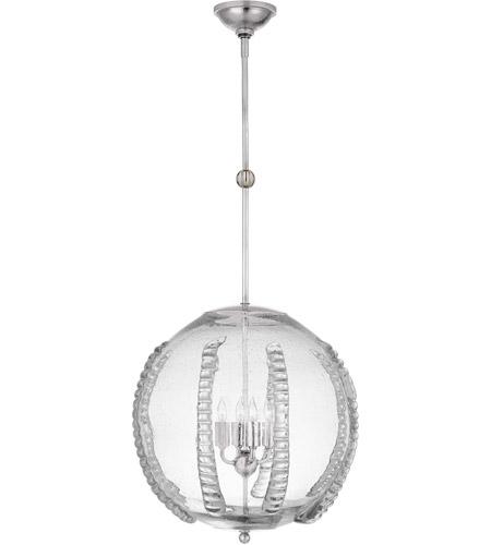 Aerin Gisela 4 Light 19 Inch Polished Nickel Globe Pendant Ceiling Light Large