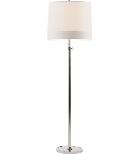 Visual comfort bbl1023ss s2 barbara barry simple 63 inch for Ornate silver floor lamp