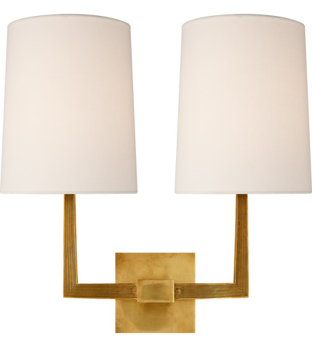 Visual Comfort BBL2084SB-L Barbara Barry Ojai 2 Light 17 inch Soft Brass Double Arm Sconce Wall Light, Large photo
