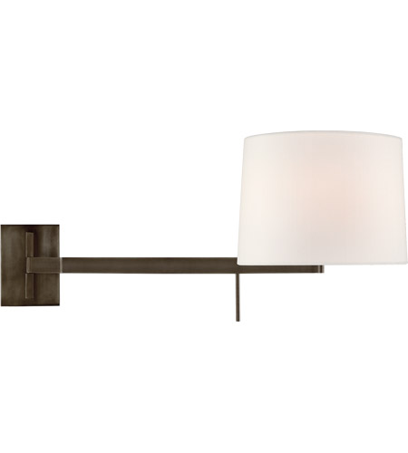 Visual Comfort BBL2162BZ-L Barbara Barry Sweep 1 Light 12 inch Bronze Articulating Wall Sconce Wall Light, Medium Left photo