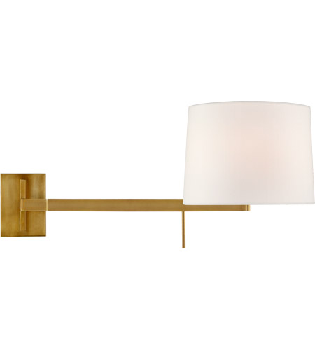 Visual Comfort BBL2162SB-L Barbara Barry Sweep 1 Light 12 inch Soft Brass Articulating Wall Sconce Wall Light, Medium Left photo