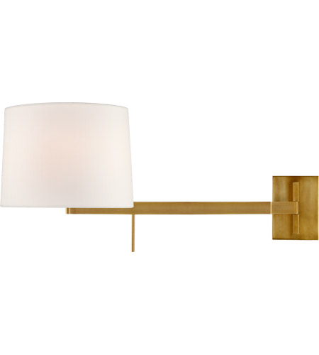 Visual Comfort BBL2164SB-L Barbara Barry Sweep 1 Light 12 inch Soft Brass Articulating Wall Sconce Wall Light, Medium Right photo