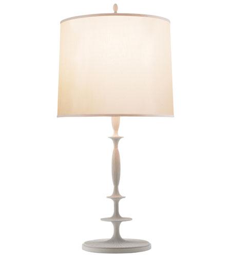 Elegant Visual Comfort BBL3003WHT S Barbara Barry Lotus 33 Inch 150 Watt Plaster  White Decorative Table