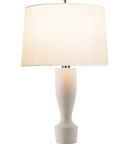 Visual Comfort BBL3012WHT S Barbara Barry Bodice 34 Inch 150 Watt Plaster  White Decorative Table Lamp Portable Light