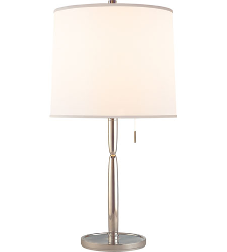 Visual Comfort Barbara Barry Figure 2 Light Decorative Table Lamp in Soft Silver BBL3029SS-S photo