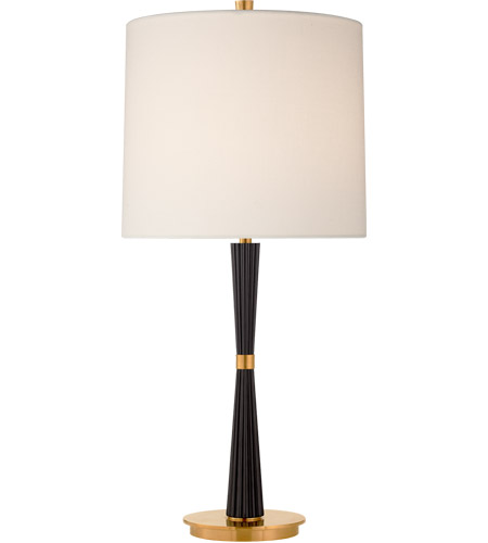 Visual Comfort Bbl3036ebo L Barbara Barry Refined Rib 28 Inch 100 Watt Ebony Table Lamp