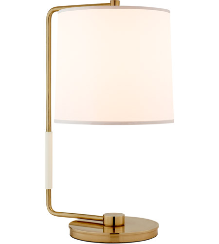 Visual Comfort BBL3070SB S Barbara Barry Swing 21 Inch 75 Watt Soft Brass Table  Lamp Portable Light