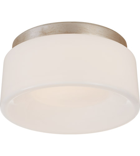 Visual Comfort BBL4092BSL-WG Barbara Barry Halo LED 6 inch Burnished Silver Leaf Flush Mount Ceiling Light, Petite photo