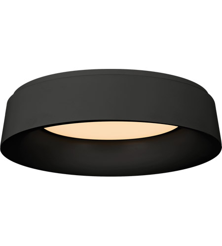 Visual Comfort BBL4096BLK Barbara Barry Halo 1 Light 18 inch Matte Black Flush Mount Ceiling Light photo