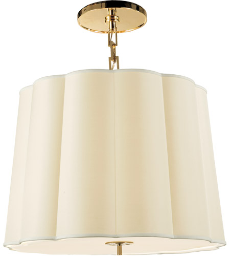 Visual Comfort BBL5015SB-S Barbara Barry Simple 5 Light 25 inch Soft Brass Hanging Shade Ceiling Light photo