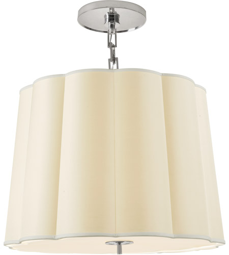 Visual Comfort BBL5015SS-S Barbara Barry Simple 5 Light 25 inch Soft Silver Hanging Shade Ceiling Light photo