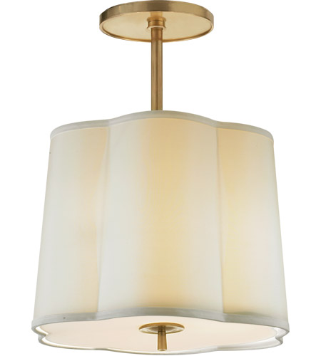 Visual Comfort BBL5016SB-S Barbara Barry Simple 3 Light 16 inch Soft Brass Hanging Shade Ceiling Light photo