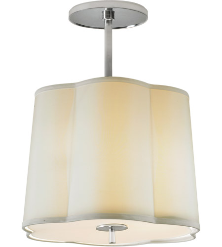 Visual Comfort BBL5016SS-S Barbara Barry Simple 3 Light 16 inch Soft Silver Hanging Shade Ceiling Light photo