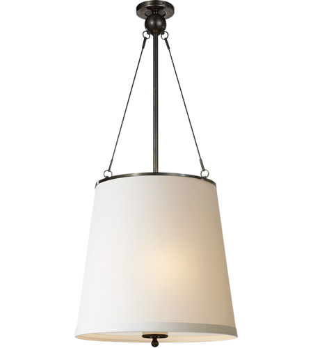 Visual Comfort BBL5023BZ-S Barbara Barry Westport 3 Light 18 inch Bronze Hanging Shade Ceiling Light photo