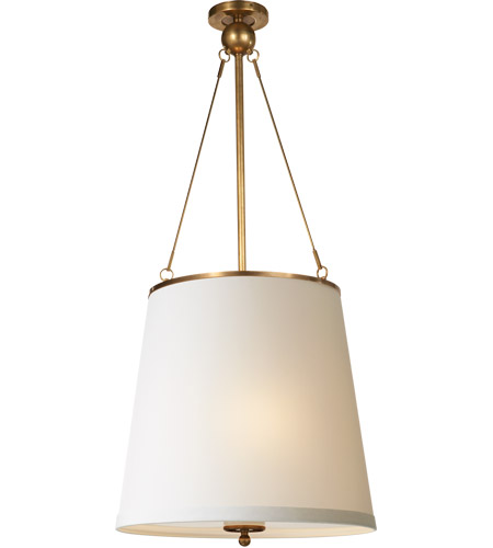 Visual Comfort BBL5023SB-S Barbara Barry Westport 3 Light 18 inch Soft Brass Hanging Shade Ceiling Light photo