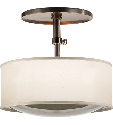 Visual Comfort BBL5024BZ-S Barbara Barry Reflection 2 Light 15 inch Bronze Hanging Shade Ceiling Light photo