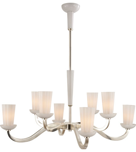 Visual Comfort BBL5028SS-WG Barbara Barry All Aglow 8 Light 41 inch Soft Silver Chandelier Ceiling Light  photo