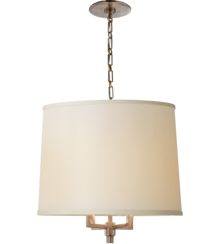 Visual Comfort BBL5030PWT-L Barbara Barry Westport 4 Light 23 inch Pewter Finish Hanging Shade Ceiling Light photo
