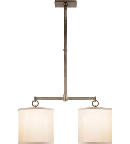 Visual comfort bbl5035pwt s barbara barry french cuff 2 light 34 visual comfort bbl5035pwt s barbara barry french cuff 2 light 34 inch pewter finish linear pendant ceiling light aloadofball Image collections