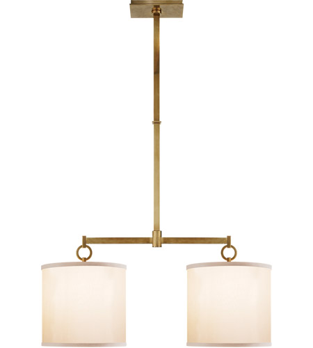 Visual Comfort BBL5035SB-S Barbara Barry French Cuff 2 Light 34 inch Soft Brass Linear Pendant Ceiling Light photo