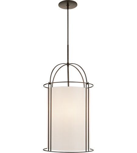 Visual Comfort BBL5058BZ-S Barbara Barry Capitol 4 Light 18 inch Bronze Foyer Lantern Ceiling Light, Barbara Barry, Narrow, Silk Shade photo