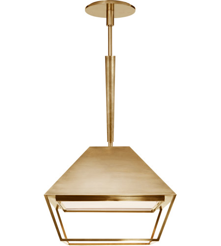 Visual Comfort BBL5101SB-FA Barbara Barry Odeum 2 Light 14 inch Soft Brass Hanging Lantern Ceiling Light, Small photo