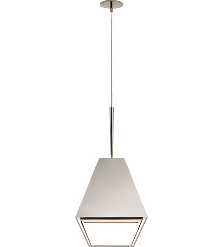 Visual Comfort BBL5102PN-FA Barbara Barry Odeum 2 Light 17 inch Polished Nickel Hanging Lantern Ceiling Light, Medium photo