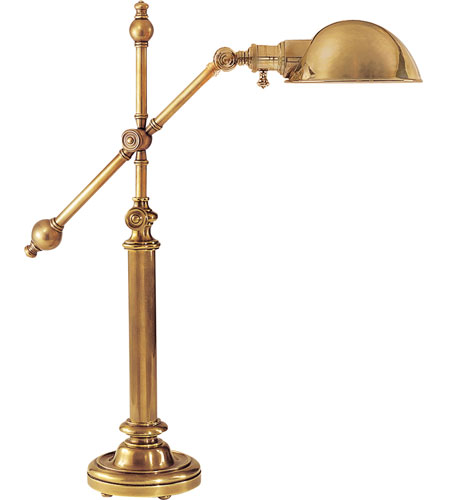 Visual Comfort CHA8150AB-AB E.F. Chapman Pimlico 25 inch 60 watt Antique-Burnished Brass Task Table Lamp Portable Light in Antique Burnished Brass, Antique Brass photo