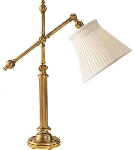 Visual Comfort E.F. Chapman Pimlico 1 Light Task Table Lamp in Antique-Burnished Brass CHA8150AB-LC photo