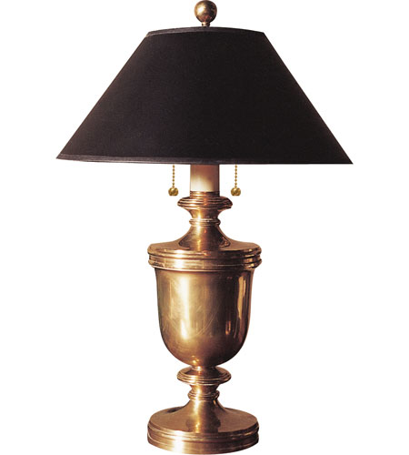 Visual Comfort E.F. Chapman Classical Urn Form 2 Light Decorative Table Lamp in Antique-Burnished Brass CHA8172AB-B photo