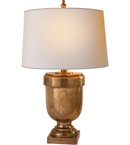 Visual Comfort CHA8173AB-NP E. F. Chapman Chunky 31 inch 150 watt Antique-Burnished Brass Decorative Table Lamp Portable Light in Natural Paper photo