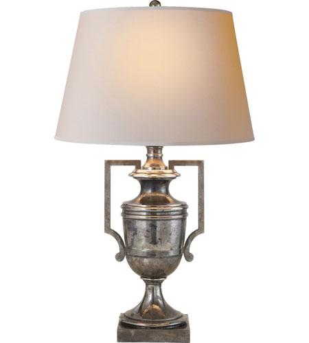 Visual Comfort Cha8355shs Np E F Chapman Regency 34 Inch 100 Watt Sheffield Silver Decorative Table
