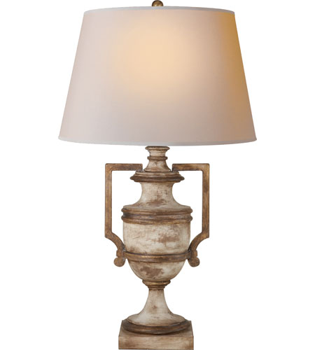 light decorative table lamp in old white with antique gold leaf. Black Bedroom Furniture Sets. Home Design Ideas