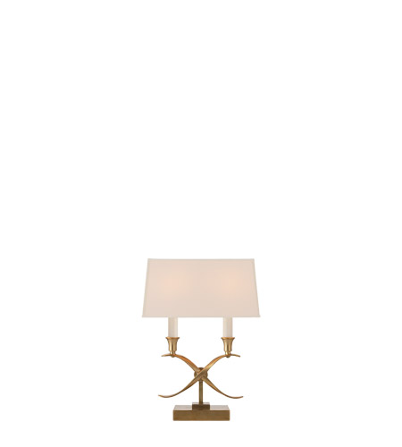 Visual Comfort CHA8545AB-NP E.F. Chapman Cross Bouillotte 14 inch 40 watt Antique Burnished Brass Table Lamp Portable Light photo