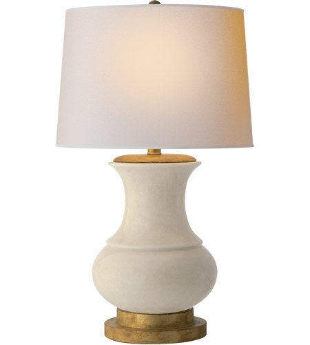 Visual Comfort CHA8608TS-NP E. F. Chapman Deauville 30 inch 100 watt Tea Stain Porcelain Decorative Table Lamp Portable Light photo