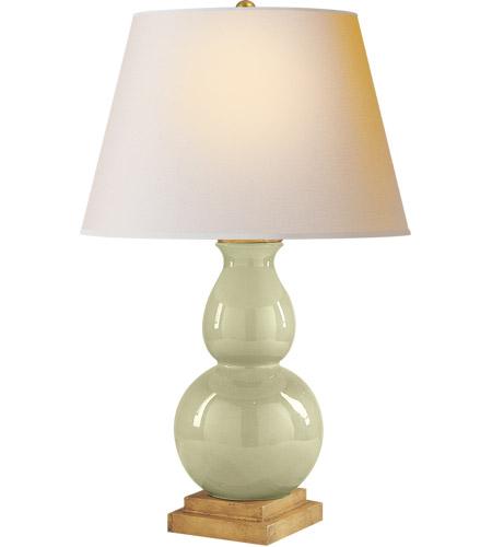 Visual Comfort CHA8613CC-NP E. F. Chapman Gourd Form 26 inch 100 watt Celadon Crackle Porcelain Decorative Table Lamp Portable Light photo