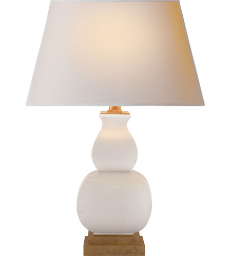 Visual Comfort CHA8628IC-NP E. F. Chapman Fang Gourd 16 inch 75 watt Ivory Crackle Ceramic Decorative Table Lamp Portable Light photo