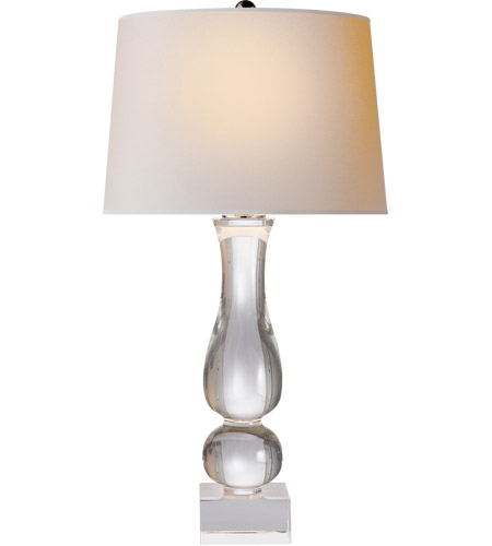 Visual Comfort CHA8646CG-NP E F Chapman Balustrade 30 inch 150 watt Crystal Table Lamp Portable Light photo