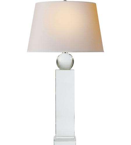 Visual Comfort CHA8651CG NP E. F. Chapman Geometric 31 Inch 100 Watt  Crystal Decorative Table Lamp