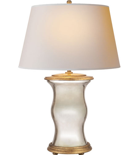Visual Comfort CHA8653MG NP E. F. Chapman Hurricane 37 Inch 100 Watt  Mercury Glass With Wax Decorative Table Lamp Portable Light