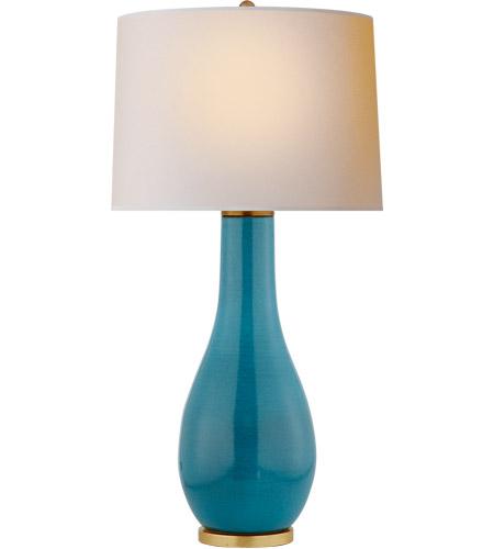 Visual Comfort CHA8655OSB NP E. F. Chapman Orson 33 Inch 150 Watt Oslo Blue  Table Lamp Portable Light