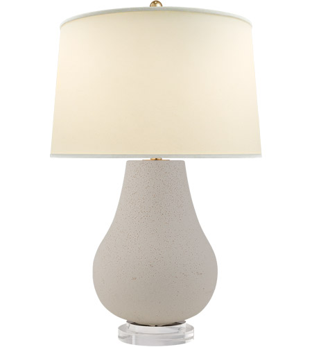 Visual Comfort CHA8658VI-PL E. F. Chapman Arica 29 inch 150 watt Volcanic Ivory Table Lamp Portable Light, E.F. Chapman, Large, Pot, Chinese, Base, Natural Percale Shade photo