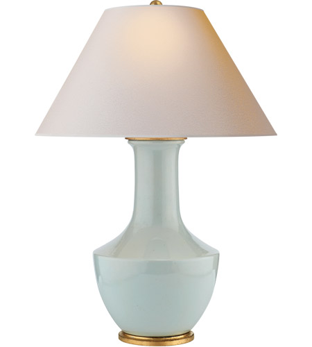 Visual Comfort Cha8661icb Np E F Chapman Lambay 36 Inch 100 Watt Ice Blue Porcelain Table Lamp Portable Light