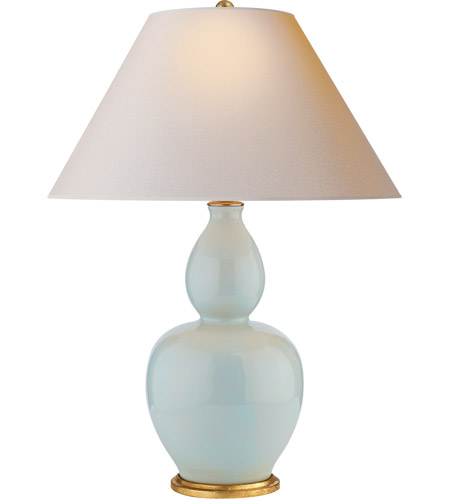 Visual Comfort Cha8663icb Np E F Chapman Yue 31 Inch 100 Watt Ice Blue Porcelain Table Lamp Portable Light