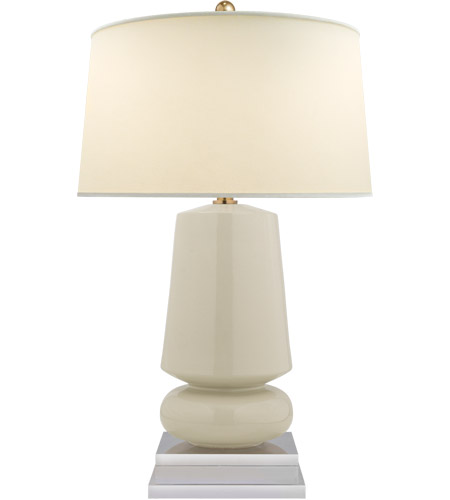 Visual Comfort CHA8668ICO-PL E. F. Chapman Parisienne 29 inch 150 watt Coconut Porcelain Table Lamp Portable Light, E.F. Chapman, Small, Natural Percale Shade photo