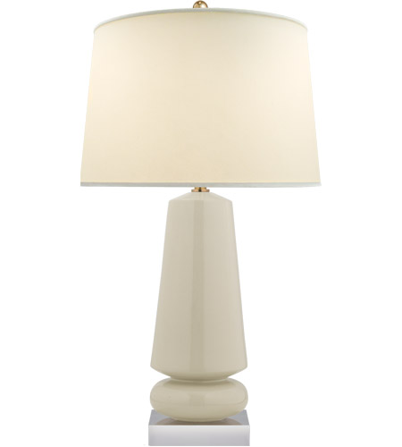 Visual Comfort CHA8670ICO-PL E. F. Chapman Parisienne 35 inch 150 watt Coconut Porcelain Table Lamp Portable Light, E.F. Chapman, Medium, Natural Percale Shade photo