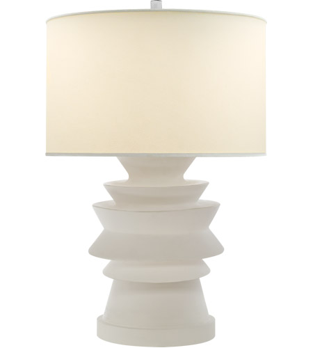 Visual Comfort CHA8693WHT PL E. F. Chapman Stacked Disk 29 Inch 100 Watt  White Porcelain Table Lamp Portable Light